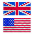 UK and USA flag Royalty Free Stock Image