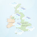 UK Weather Forecast for July Royalty Free Stock Images