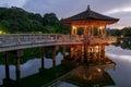 Ukimido pavilion and the reflections in the lake nara japan pond Stock Image