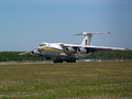 Ukraine air force il md aircraft landing on the runway borispol may to borispol international airport may editorial use Royalty Free Stock Photo