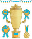 Ukraine football trophy Royalty Free Stock Images