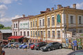 Ukraine kiev andriyivskyy descent is a historic connecting s upper town neighborhood and the historically commercial podil Royalty Free Stock Photo