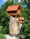 Ukraine sculpture symbolizing the tree house afn Royalty Free Stock Photography
