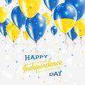 Ukraine Vector Patriotic Poster. Independence Day.