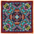 Ukrainian authentic embroidery carpet handmade cross stitch geometric artwork Stock Photos