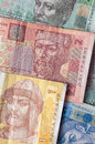 Ukrainian bank notes money background hryvnia Royalty Free Stock Images