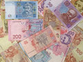 Ukrainian banknotes hryvnia. Royalty Free Stock Images