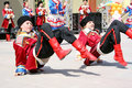 Ukrainian children perform folk dance Royalty Free Stock Images