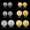 Ukrainian coins Royalty Free Stock Image