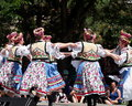 Ukrainian dancers at canada day celebration july edmonton alberta Royalty Free Stock Image