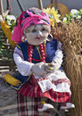Ukrainian doll on the town fair in honor of spring Royalty Free Stock Image