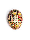 Ukrainian easter egg on a white background Royalty Free Stock Image
