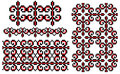 Ukrainian embroidery pattern ellement Stock Images