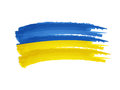 Ukrainian flag drawing isolated hand drawn illustration banner Royalty Free Stock Photo