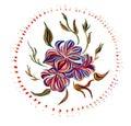 Ukrainian folk art national motives vector illustrations hand drawn illustration in style Stock Photography