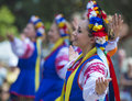 Ukrainian folk dancers san diego ca sep perform during ukraine's independence day celebration at the house of ukraine in balboa Royalty Free Stock Photography
