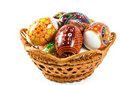 Ukrainian folk patterns Easter eggs Royalty Free Stock Image