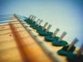 Ukrainian folk stringed instrument on white background Royalty Free Stock Images