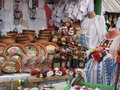 Ukrainian handmade souvenirs made of different materials Stock Image