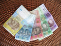 Ukrainian money, hryvna. Stock Photos