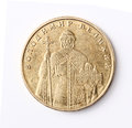 Ukrainian money one hryvnia coin with volodymyr the great averse Stock Image
