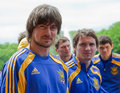 Ukrainian National football team Stock Image