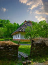 Ukrainian old country house Royalty Free Stock Image