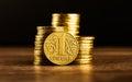 Ukrainian one hryvnia coin Royalty Free Stock Photo