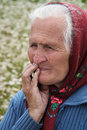 Ukrainian peasant vladimirets ukraine july an unidentified senior woman standing at a field near vladimirets on july land Stock Photo