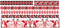 Ukrainian russian embroider old pattern Stock Photography