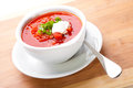 Ukrainian and russian national red soup-borsch Royalty Free Stock Images