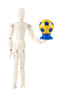 Ukrainian Soccer ball with dummy Royalty Free Stock Images