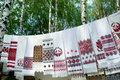 Ukrainian towels Royalty Free Stock Photography