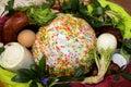 Ukrainian Traditional Easter Basket.