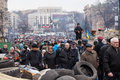 Ukrainians at Euromaidan in Kiev Royalty Free Stock Photo