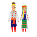 Ukrainians national dress illustration of costume on white background Royalty Free Stock Photos