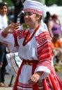 Ukranian girl in parade Royalty Free Stock Photo