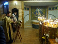 Ukranian orthodox christians celebrate christmas priests carry out a public prayer Stock Image