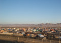 Ulan Bator, Mongolia Photographed From the Train Royalty Free Stock Photo