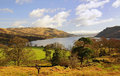Ullswater view cumbria looking north over in early spring from the glencoyne area in the lake district national park in Royalty Free Stock Images