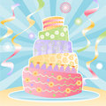 Ultimate Birthday Cake Stock Image