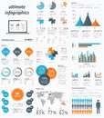 Ultimate infographic elements set with minimal eas easy designs eps Stock Image