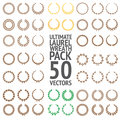 Ultimate Laurel Wreath Pack 50 Vectors