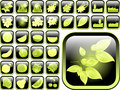 Ultimate vector icon pack abstract nature Stock Photos