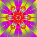 Ultra bright mandala Stock Images