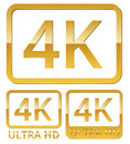 Ultra HD 4K icon Royalty Free Stock Photo