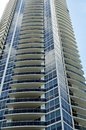 Modern Condo Tower on Miami Beach Royalty Free Stock Photo