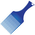 Ultra smooth hair comb made ​​of plastic vector illustration Stock Photography
