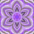 Ultra violet tender tile, mosiac mandala effect triangle flower pattern Royalty Free Stock Photo