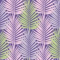 Ultra violet tropical palm leaves seamless